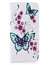 For Samsung Galaxy S8 S8 Plus Case Cover Butterfly Pattern PU Material Card Stent Wallet Phone Case Galaxy S7 S6 edge