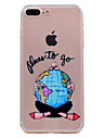 Para iPhone 8 iPhone 8 Plus Case Tampa Transparente Estampada Capa Traseira Capinha Mulher Sensual Macia PUT para Apple iPhone 8 Plus
