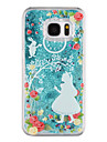 Case For Samsung Galaxy S8 Plus S8 Flowing Liquid Transparent Pattern Back Cover Transparent Glitter Shine Cartoon Hard PC for S8 Plus S8