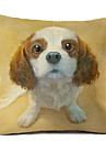 1 pcs Linen Pillow Case, Dog Modern/Contemporary
