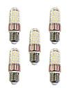 9 W LED klipaste žarulje 600 lm E27 T 60 LED zrnca SMD 2835 Toplo bijelo Bijela 220-240 V, 5pcs