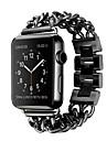 시계 밴드 용 Apple Watch Series 3 / 2 / 1 Apple 나비 버클 스테인레스 스틸 손목 스트랩