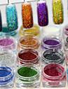 1set 17pcs Poudre / Poudre de paillettes Elegant & Luxueux / Brille & Scintille / Nail Glitter Nail Art Design