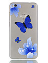 Para huawei p9 lite p8 lite (2017) capa capa borboleta padrao relevo dijiao tpu material alto atraves do telefone caso p8 lite