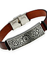 Муж. Кожаные браслеты Бижутерия Природа Мода Кожа Сплав Бижутерия Назначение Особые случаи
