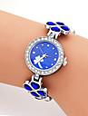여성용 패션 시계 손목 시계 독특한 창조적 인 시계 캐쥬얼 시계 석영 합금 밴드 참 멋진 캐쥬얼 창의적 럭셔리 우아한 블랙 화이트 블루 퍼플