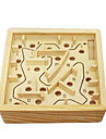 Wooden Labyrinth Board Game Balls Maze Wood Pieces Unisex Adults\' Gift