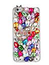 Pour etui en diamant rhinestone etui arriere etui glitter brillant 3d carre dur pc pour Apple iphone 7 7 plus 6s 6 plus se 5s 5