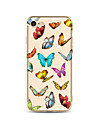 Case For Apple iPhone X iPhone 8 Plus Transparent Pattern Back Cover Butterfly Soft TPU for iPhone X iPhone 8 Plus iPhone 8 iPhone 7 Plus