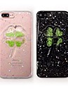 Voor iPhone 8 iPhone 8 Plus Hoesje cover Strass Achterkantje hoesje Bloem Glitterglans Zacht TPU voor Apple iPhone 7s Plus iPhone 8