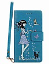 Case For Huawei P8 Lite(2017) P8 Lite Case Cover Card Holder Wallet with Stand Glow in the Dark Flip Pattern Case Sexy Lady Hard PU Leather P10 Lite