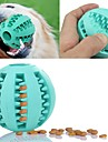 Cat Teething Toys Dog Teething Toys Easy Install Food Dispenser Elastic Durable Football Fun Rubber For Cat Dog