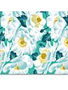 Halo tapis de souris en tissu original camellia japonais mignonne personnalite peinte a la main 22 * 18cm