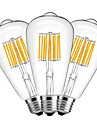 10W E27 LED Filament Bulbs ST64 10 leds COB Decorative Warm White 1000lm 2700K AC 220-240V