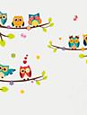 Eläimet Muoti Kasvitiede Wall Tarrat Lentokone-seinätarrat Koriste-seinätarrat Pituustarrat, Muovi Kodinsisustus Seinätarra Seinä