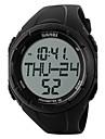 SKMEI Муж. Спортивные часы электронные часы Цифровой Защита от влаги Педометр Хронометр Крупный циферблат PU Группа Черный Зеленый