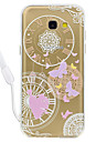 Case For Samsung Galaxy A5(2017) A3 (2017) Butterfly Pattern Acrylic Backplane and TPU Edge Materia Neck Lanyard A510 A310