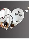 미로스 벽 스티커 3D 월 스티커 거울 데코레이티브 월 스티커, 플라스틱 비닐 홈 장식 벽 데칼 벽
