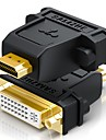 HDMI 2.0 Adaptateur, HDMI 2.0 to DVI Adaptateur Male - Femelle Cuivre plaque or