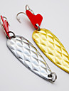 2 pcs Metal Bait Spoons Fishing Lures Metal Bait Lure Packs Spoons Metal Alloy Sea Fishing Spinning Trolling & Boat Fishing Lure Fishing