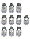 10pcs T10 Carro Lampadas 1W COB 55lm Lampadas LED Lampada de Seta
