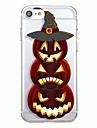 Para iphone 7plus capa de caso padrao transparente capa de capa traseira padrao geometrico cartoon halloween soft tpu para iphone 7 6splus