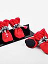Cachorro Sapatos e Botas Casual Prova-de-Agua Solido Preto Laranja Vermelho Para animais de estimacao