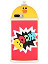 Кейс для Назначение Apple iPhone 7 Plus iPhone 7 С узором Кейс на заднюю панель Слова / выражения 3D в мультяшном стиле Животное Мягкий