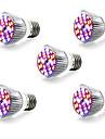 5pcs 5W 800lm E14 GU10 E27 Growing Light Bulb 28 LED Beads SMD 5730 Warm White White Blue Red 85-265V