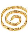 남성용 팬던트 목걸이 Circle Shape Line Shape 도금 골드 패션 개인 힙합 클래식 금속 보석류 제품 파티 돌잔치 거리 클럽