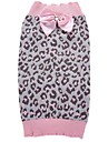 Cat Dog Coat Sweater Christmas Dog Clothes Leopard Pink Spandex Cotton / Linen Blend Costume For Spring &  Fall Winter Party Cosplay Casual / Daily