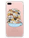 Case For Apple iPhone 7 7 Plus Case Cover Cat Pattern Painted High Penetration TPU Material Soft Case Phone Case For iPhone 6S 6 Plus