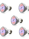 5pcs 7W 800-1200lm E14 GU10 E27 Lampada crescente 40 Contas LED SMD 5730 Branco Quente Branco Azul Vermelho 85-265V