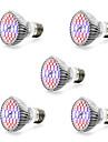 5pcs 7W 800-1200lm E14 GU10 E27 Growing Light Bulb 40 LED Beads SMD 5730 Warm White White Blue Red 85-265V