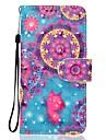 케이스 애플 아이폰 7 플러스 7 케이스 커버 카드 홀더 지갑 스탠드 플립 패턴 전신 케이스 3 차원 만다라 하드 우레탄 가죽 아이폰 6s 6plus 5s se