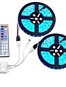 1 Set Led Strip Kit Waterproof 5050 10M(2*5M) 600led with44 key1to2 Ir Controller