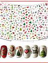 10pcs/set 네일 데칼 / 크리스마스 크리스마스 장식품 / 네일 스티커 네일 아트 디자인