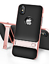 Para iPhone X iPhone 8 iPhone 8 Plus Case Tampa Com Suporte Capa Traseira Capinha Cor Solida Rigida PC para Apple iPhone X iPhone 8 Plus