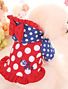 Dog Hoodie Dog Clothes Polka Dot Red Pink Cotton Costume For Spring &  Fall Winter Casual / Daily