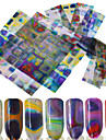 16pcs Accessories 3D Nail Stickers Sticker DIY Supplies 3-D Nail Stamping Template Daily Fashion High Quality
