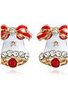Women\'s Stud Earrings Hoop Earrings Personalized Geometric Rhinestone Alloy Jewelry Christmas Casual Costume Jewelry