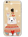 Para iPhone X iPhone 8 Case Tampa Ultra-Fina Transparente Estampada Capa Traseira Capinha Natal Macia PUT para Apple iPhone X iPhone 8