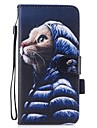 Coque Pour Apple iPhone 7 Plus iPhone 7 Porte Carte Portefeuille Avec Support Clapet Magnetique Motif Coque Integrale Chat Dur faux cuir