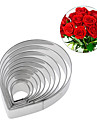 10Pcs Stainless Steel Rose Flower Petal Cookie Cutter Biscuit Fondant Cake Mold