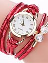 Mulheres Relogio de Moda Bracele Relogio Simulado Diamante Relogio Chines Quartzo imitacao de diamante PU Banda Casual Boemio Elegant