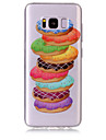 Capinha Para Samsung Galaxy S8 Plus S8 IMD Transparente Estampada Capa Traseira Comida Macia TPU para S8 S8 Plus S7 edge S7 S6 edge S6 S5