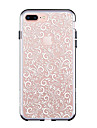 Pour iPhone 7 iPhone 7 Plus Etuis coque Ultrafine Transparente Motif Coque Arriere Coque Carreau vernise Flexible PUT pour Apple iPhone 7