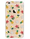 Para iPhone 7 iPhone 7 Plus Case Tampa Ultra-Fina Transparente Estampada Capa Traseira Capinha Fruta Flor Macia PUT para Apple iPhone 7