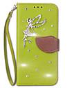 Кейс для Назначение Sony Xperia Z5 Xperia Z5 Premium Кошелек Бумажник для карт Стразы со стендом Флип Чехол Сплошной цвет Твердый