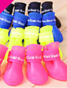 Dog Boots / Shoes Waterproof Solid Yellow Red Green Blue Pink For Pets